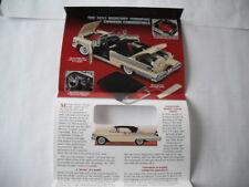 Danbury Mint 1957 Mercury Turnpike Cruiser 1/24 Scale Paper Work Only No Car