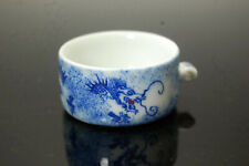 Hand Painted Porcelain Bird Feeder Bowl for Chinese Bamboo Bird Cage Dragon
