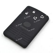4 Buttons Black Silicone Shell Remote Smart Key Card Cover For Mazda 5 6 CX7 CX9
