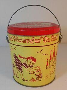 "Vintage 1950's Swift""s Peanut Butter 5 lbs Wizard of Oz Tin Pail"