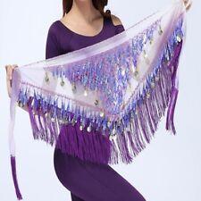 2016 Belly Dance Belt Triangular Sequins Tassel Gorgeous Hip Scarf Wrap Skirt