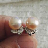 Perle Ohrringe, 8-9mm rosa Süßwasser Perle Ohrringe