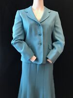 "EASTEX Women's Blue 2 Piece Jacket & Skirt Suit Size 12 W29"" P2P 20"" Wedding"