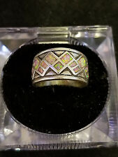14kt white gold hand made opal ring LOT II