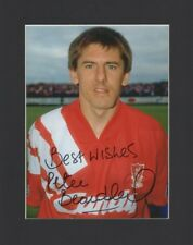 PETER BEARDSLEY LIVERPOOL FC ENGLAND HAND SIGNED 10X8 MOUNTED AUTOGRAPH PHOTO