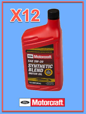 12 X Quarts OEM FORD Premium Synthetic Blend Motor Oil Motorcraft SAE 5W20