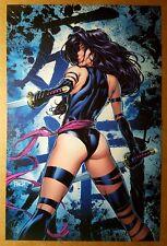 Psylocke 3 Uncanny X-Men Elizabeth Braddock Marvel Comics Poster by David Finch