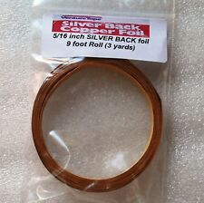 (9 foot roll) 3 yards of 5/16 inch SILVER BACK Copper Foil Tape ~VENTURE