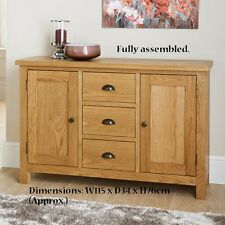 Luxury oak compact Wiltshire Wide Sideboard Caninets and cupboards