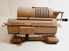 Vintage Russian Felix Arithmometer Mechanical Calculator Brown USSR