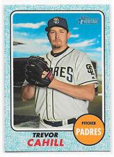 2017 Topps Heritage High Number BLUE Border (SP) #724 Trevor Cahill - Padres