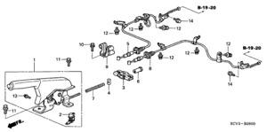 Genuine Honda 47510-SDC-A53 Parking Brake Wire