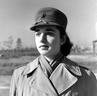 WW2 Photo WWII  Portrait of Female US Marine MCWR 1944 USMC World War Two / 1473