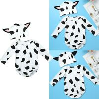 Infant Baby Boys Girls Romper Jumpsuit One-piece Clothes Cow Spots Print Outfits