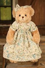 Teddy Bear 'Brittany' Settler Bears Handmade Pattern Dress Collectable Gift 58cm