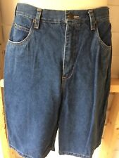 Carole Little Women's Blue Denim Walking Bermuda Shorts Size 14