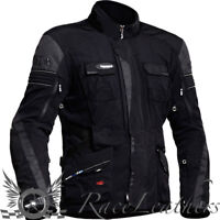 HALVARSSONS PRIME MENS BLACK WATERPROOF REFLECTIVE MOTORCYCLE TOURING JACKET OUT