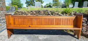 Long Pitch Pine Church Pew - Victorian (1888). Bench style. Used.