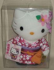 """Hello Kitty Himeji Kimono Yukata Outing Plush Doll 7.9"""" 20cm Sanrio 2003 NIB"""