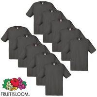 Fruit Of The Loom 10 Nella Confezione Resistenti Tinta Unita Nera