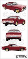 New-Collectable-Holden-Monaro-HX-Limited-Edition-LE Medium Sticker Set