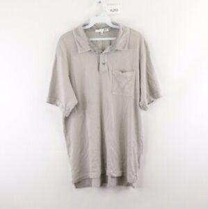 NSF Clothing Mens XL Pocket Short Sleeve Golfing Golf Polo Shirt Gray Cotton