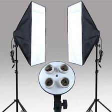 6pcs Photography Studio Continuous Photo Softboxes Lamp Light Stand Lighting Kit