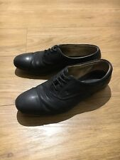 Woman Tods Black Leather Lace Up Shoes Size 37
