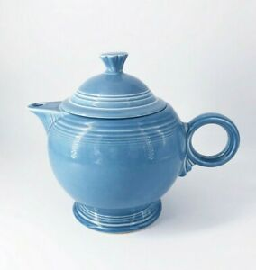 Fiesta Retired Periwinkle Blue Teapot New Vintage 6 Cups Large 44 oz.