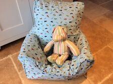 Handmade Children's Beanbag Chair Cover, Beep Beep Cars