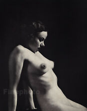 1937 Original Art Deco FEMALE NUDE Woman Photo Litho By ALFRED CHENEY JOHNSTON