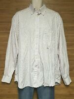 Paul & Shark Yachting White Check Button Front Shirt Mens Size 43 / 17