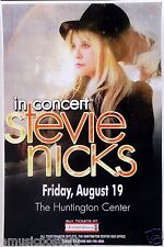 STEVIE NICKS 2011 TOLEDO CONCERT TOUR POSTER-Fleetwood Mac,Stevie Wearing Tophat