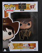 THE WALKING DEAD SIGNED FUNKO POP CARL-CHANDLER RIGGS  w/EXACT PROOF