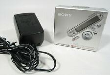 Original Sony Md Minidisc Walkman Recorder Mz-Nf810 w/ Ac Adapter - Tested