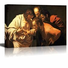 "The Incredulity of Saint Thomas by Caravaggio - Canvas Print Wall Art- 16"" x 24"""