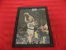 Larry Bird Signature Boston Celtics NBA Basketball Action Photo Magic Johnson