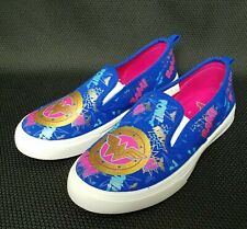 Wonder Woman Girls Youth Shoes Size 3 DC Comics Slip On Canvas NWOT