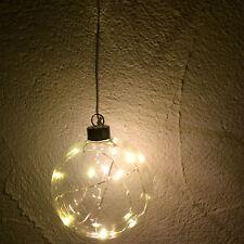 Glaskugel 10er LED Lichterkett Stimmungslicht Beleuchtung Weihnachtskugel