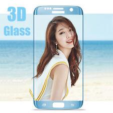 Azul 3D Completo Cubierta Protector de Pantalla de Vidrio Templado para Samsung Galaxy S6 Edge