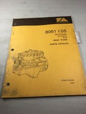 Fiat Allis 8061 Engine Parts Catalog Manual For 65-B Motor Grader
