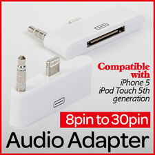 8 Pin to 30 Pin Audio Lightning Adapter Docking F. iPhone 5 5s 5c iPad 4 iPod UK