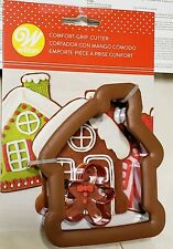 WILTON Comfort Grip large Gingerbread House & Small Boy Cookie Cutter Set NEW