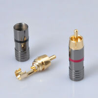 RCA Interconnect Male Locking Solder Audio Plug New 4PCS