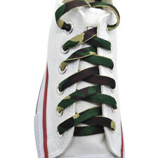 """45"""" Flat Athletic """"Camouflage"""" width(8mm) Sneaker Shoelaces 1Pairs"""