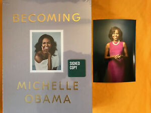 SIGNED MICHELLE OBAMA *BECOMING* Clothbound DELUXE EDITION  SEALED!!! WOW!