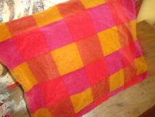IKEA STOCKHOLM RUTA CHECK RED GOLD PINK VELVET SQUARE (1) THROW PILLOW COVER 20""
