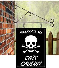 Custom designed Hanging Pub sign,Bar sign,skull & crossbones man cave free P&P