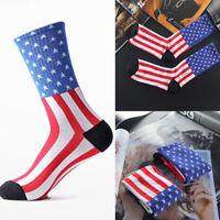 Fashion Unisex American USA Star Flag Stripes Old Glory Dress Casual Crew Socks