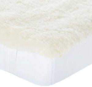 Snugglewool King Size Washable Natural Wool Mattress Pad - NEW
